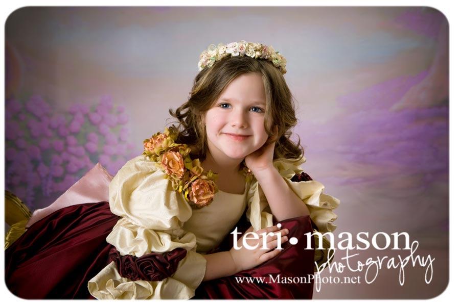 Beautiful child princess portrait in Austin, Texas