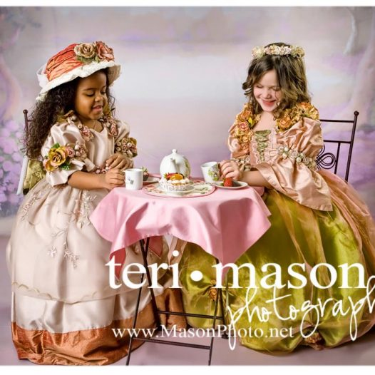 Princess Tea Party Portraits in Austin, Texas