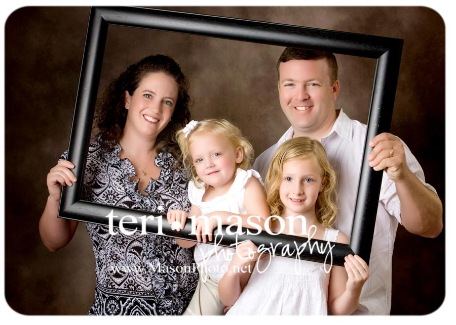 austin family studio portrait