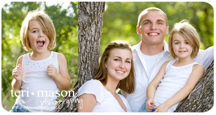 Outdoor Family Portrait Austin TX