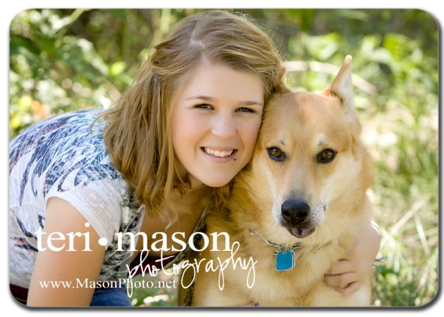 senior pics with pet