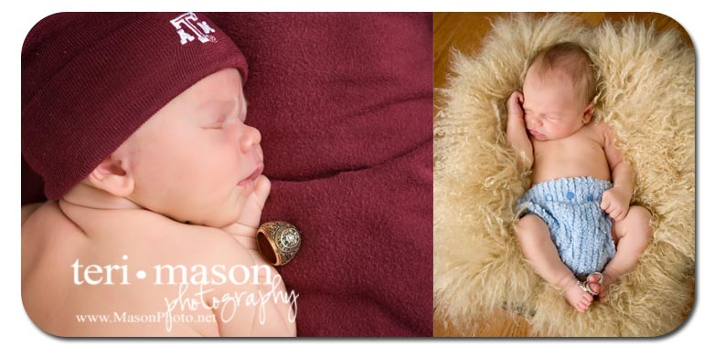 creative newborn portrait, austin texas