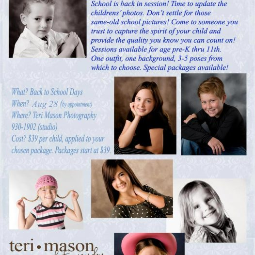 Professional portrait at school picture prices!