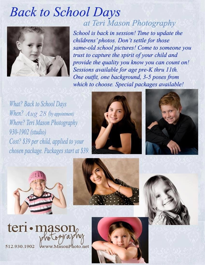 Professional portrait at school picture prices!