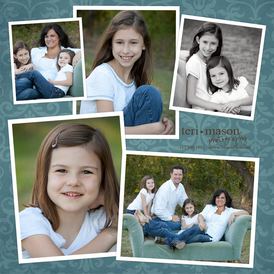 austin texas outdoor family portrait