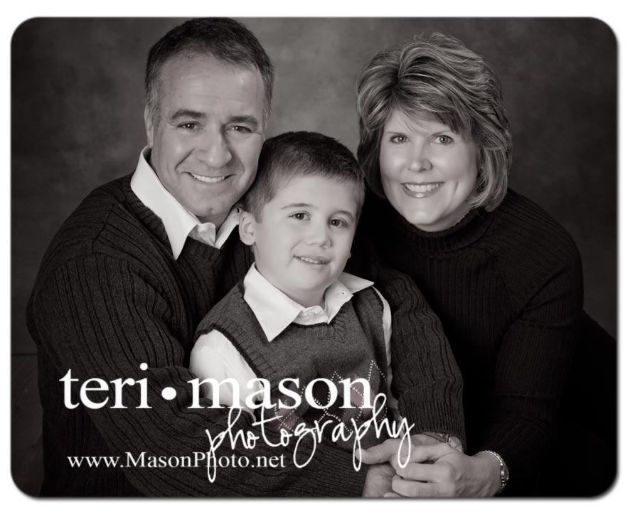 Black & White portrait of a family