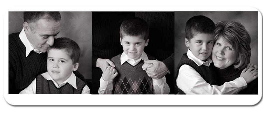 Black & White family portrait, Austin TX