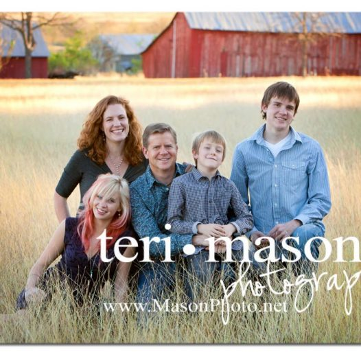 Austin family in field photo