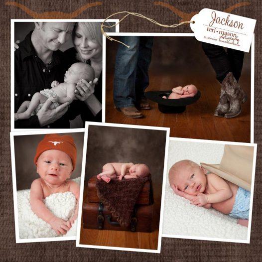 Newborn Austin Longhorn photographer