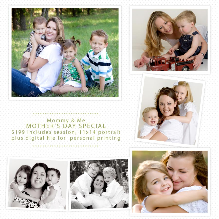 Mommy & Me studio portraits