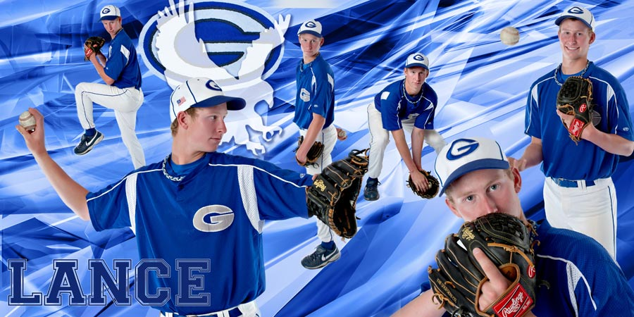 senior picture baseball sport collage