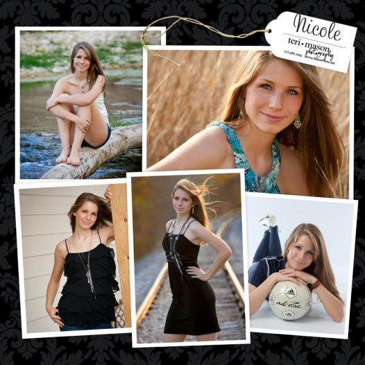 Pflugerville outdoor senior portraits