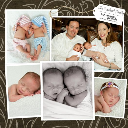 Twin newborn location pictures at home