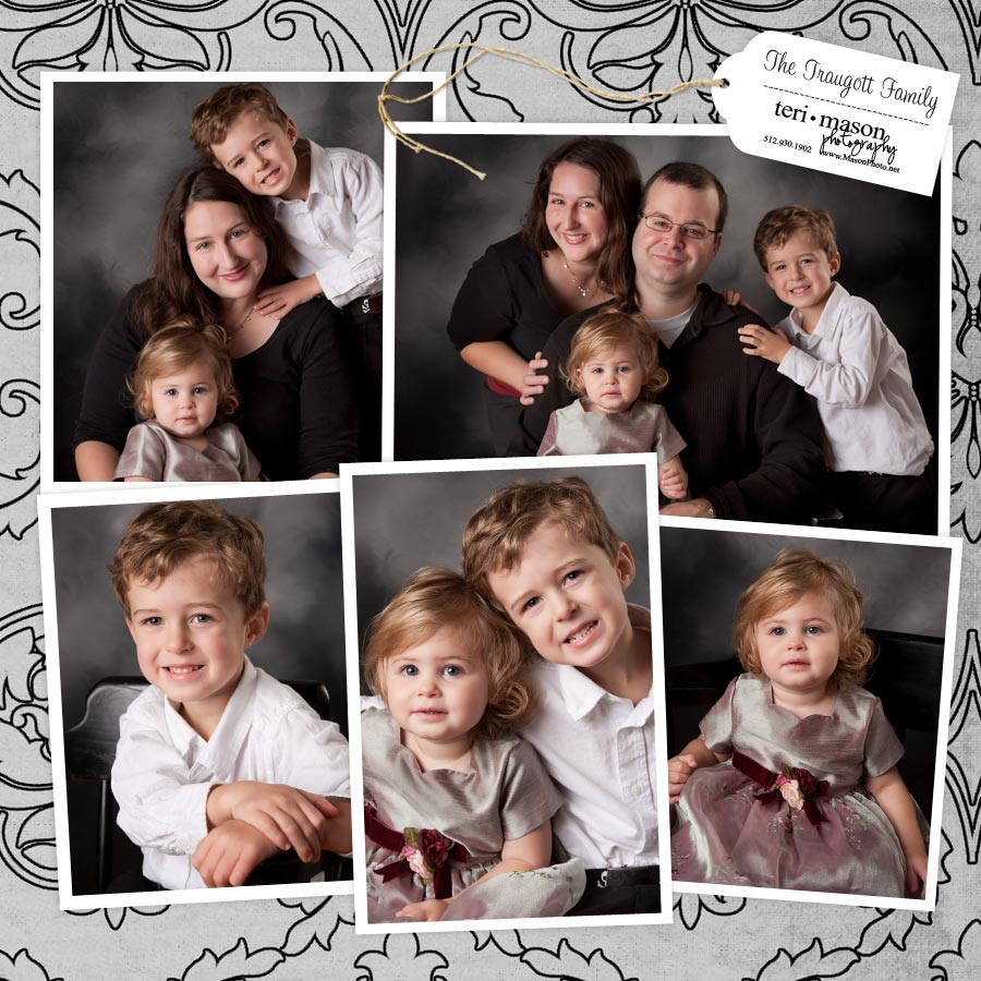 family portraits in studio, Austin, TX