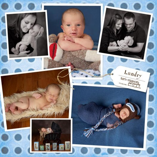 Newborn baby's first year club pictures