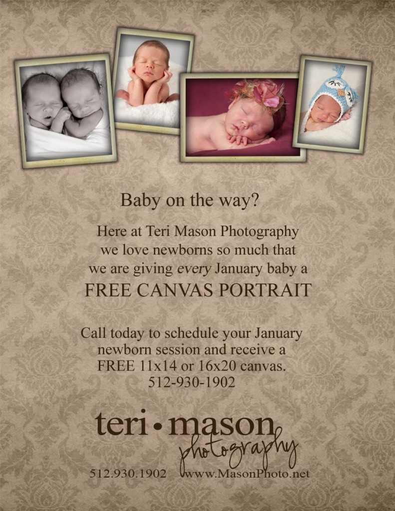 Free Canvas with Newborn Session