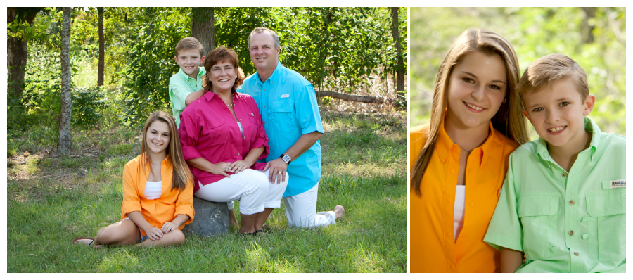 Outdoor family portraits in Georgetown, TX