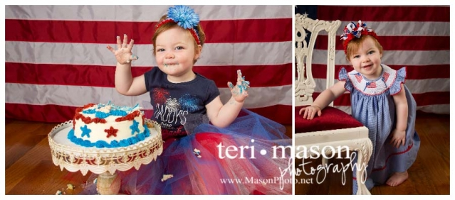 Patriotic baby portrait, july 4th baby picture