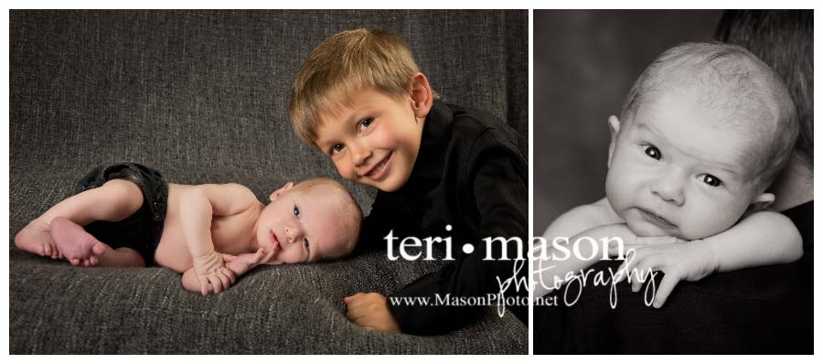 newborn and sibling portrait in Austin, TX