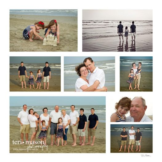 Extended family beach portrait