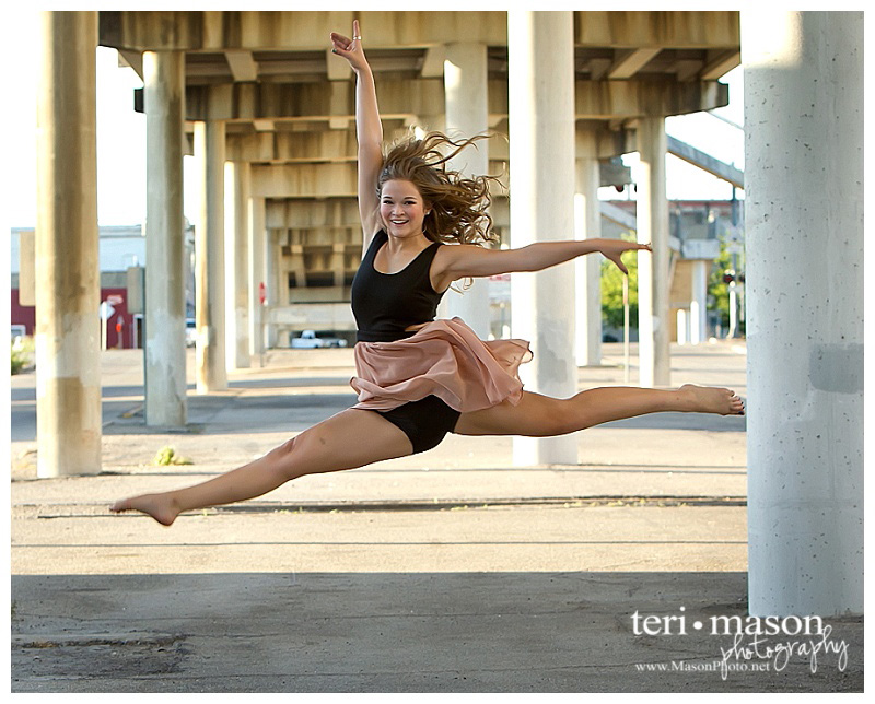 senior dancer location portrait