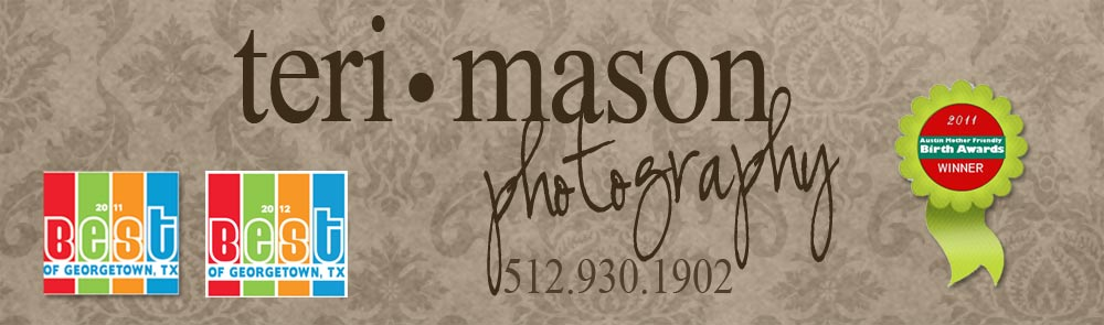 Georgetown, TX Newborn, Baby, Family & Senior photographer Teri Mason logo